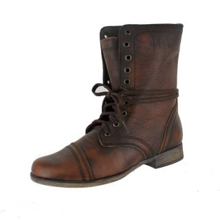 Steve Madden Troopa Brown Womens Casual Boots Size 8 M