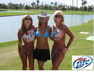 Miller Lite Beer Body Paint Girls Refrigerator Magnet