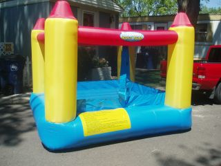 KID POWER BOUNCE ROUND INFLATABLE BOUNCER HOUSE PRE OWNED USED 1 TIME