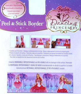 Barbie 12 Dancing Princesses 15 ft Wall Paper Border New