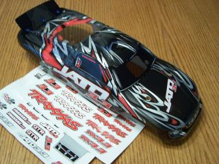 Traxxas 3.3 Jato Black & Red ProGraphix Factory Painted Body w/ Decals