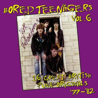 At long last BORED TEENAGERS Vol 6 LP + BOOKLET punk kbd NWOBHM