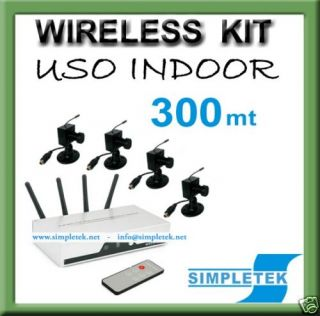Kit DVR Recorder Telecamera Wireless WiFi Panasonic USB