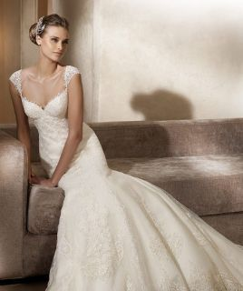 Luxe White Ivory Wedding Evening Dress Custom Matching With Diamond