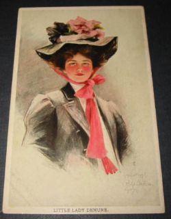1907 Philip Boileau Art Postcard Little Lady Demure