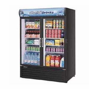 Turbo Air 50 CU ft Refrigerated Merchandiser with 2 Glass Doors TGM