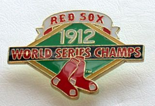 Boston Red Sox 1912 World Series Collectors Pin w W