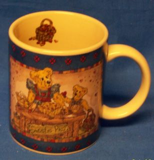 Boyds Bear Coffee Cup Mug Bearware Pottery Works Cute