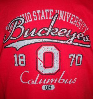 NCAA Buckeyes OHIO STATE UNIVERSITY Red T Shirt