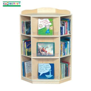 guidecraft kids wood corner book nook