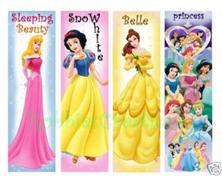 Lot FUN BOOKMARKS PRINCESS Snow White Belle Sleeping Beauty Book
