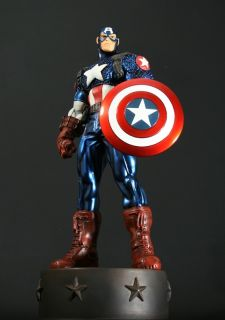 BOWEN ULTIMATE CAPTAIN AMERICA STATUE METALLIC VARIANT SHIPS WORLDWIDE