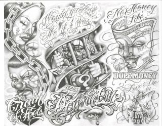 Boog Tattoo Flash Designs