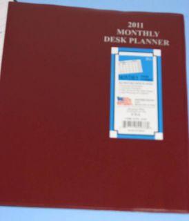 2011 Monthly Desk Planner Calendar Organizer Book Brgdy