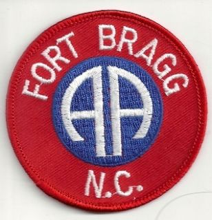 Fort Bragg North Carolina 82nd Airborne Division US Army patch