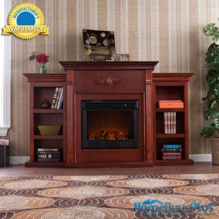 Portable Electric Fireplace Bookcases TV Media Stand Remote