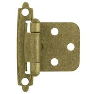 antique brass cabinet hinges flush overlay by brainerd hardware