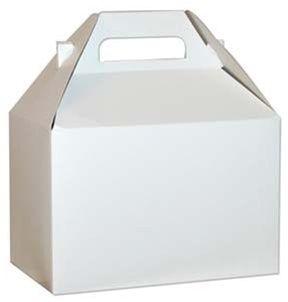 "10 Big Large White Gable Boxes Size 9 x 6 x 6"""
