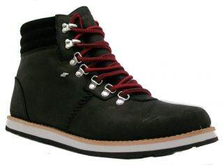 Boxfresh Khyke Tartan Mens Black Lace Up Combat Style Military Boots