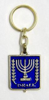 Israel Menorah Judaica Key Chain Jewish Kabbalah Amulet Charm Pendant