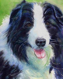 Original Sheepdog Border Collie Painting Black Art Dog