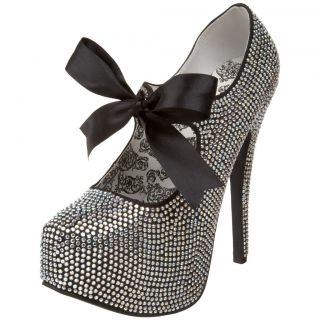 Bordello Rhinestone w Bow Tie TEEZE04R Pump 4 Colors