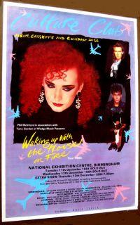 Boy George Culture Club 1984 Huge UK Poster Quad