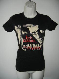 New Rock Rebel Universal Monsters Boris Karloff The Mummy Girly Black