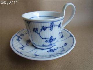 Vintage Royal Copenhagen c1900 Plain Blue Lace Cup Saucer