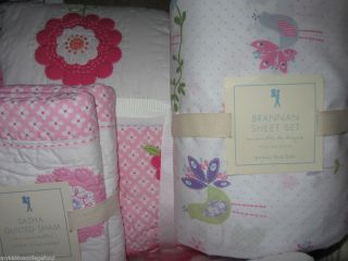 Barn Kids Sasha twin quilt standard sham Brannan sheet set purple pink