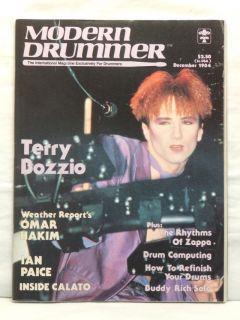 Modern Drummer Magazine Terry Bozzio Omar Hakim RARE