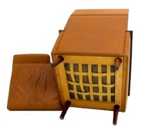 borge mogensen leather rosewood lounge chair ottoman