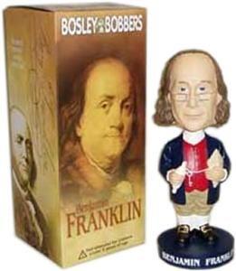 RARE Ben Franklin Bosley Bobble Head Doll
