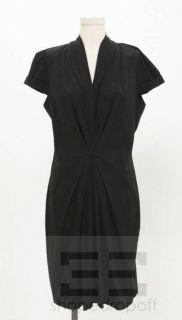 Boss Hugo Boss Black Pleated Cap Sleeve Dress Size US 12