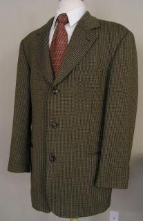 Hugo Boss Tweed Blazer Brown Wool 44R Einstein Perfect