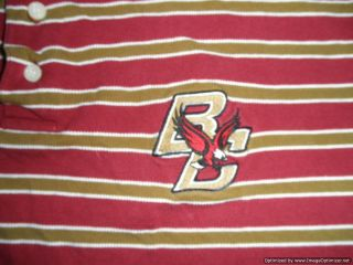 Boston College Eagles Mens Polo Shirt XL Red Russell Athletic NCAA