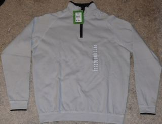 NEW NWT BOSTON TRADERS XL EXTRA LARGE SILVER 1 4 ZIP SWEATER