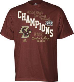 Boston College Eagles Maroon Adidas 2012 NCAA Hockey National