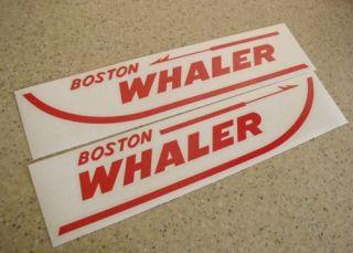 Boston Whaler Boat Decals Die Cut 2 Pak 13 Free SHIP Free Fish Decal