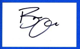 Bree Olson Playboy 2011 Former Charlie Sheen Goddess Signed 3x5 Card