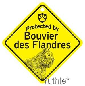 protected by bouvier dog window sign made in usa search