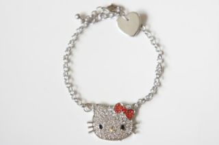 hello kitty red bow bracelet with swarovski crystal search