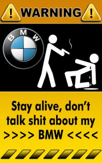 BMW Sport Car Art Funny Decal Sticker Warning Sign 3