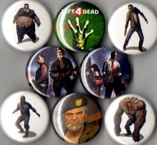 Left 4 Dead 8 Pins Buttons Badges Zombies Logo New