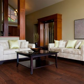 Hand Scraped Bourbon Hickory Hardwood Flooring Wood Floor