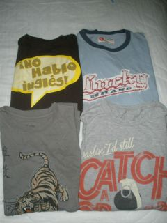 Lot of 4 Mens Tee Shirt S Bowling for Soup Free Ship Lucky brand Bruno