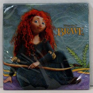 Disney Brave Birthday Party Set 16 Dessert Plates Beverage Napkins