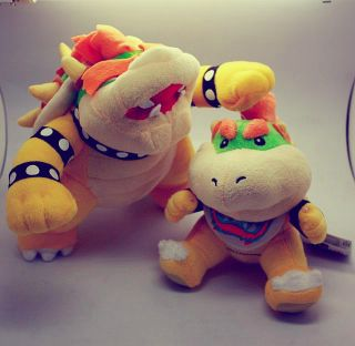 Mario Bros King Koopa Bowser Jr Plush Stuffed Doll Toy US SHIP