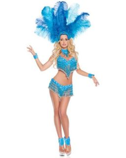 Deluxe Womens Sexy Brazilian Show Girl Halloween Costume