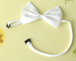 White Bow Kids Boys Toddler Solid Color Wedding Neck Bow Ties